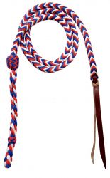 New Horse TACK! Showman 4.5 Braided Nylon Over Under Whip